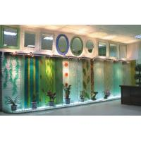 Wall-mounted decorative slumped glass panel Manufactures