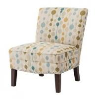 Multi Colored Slipper Accent Chair Woven Fabric With Silver Nail Heads