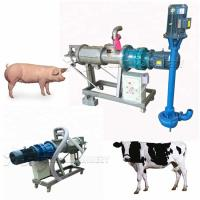 China Poultry Manure Dewatering Equipment  Cow Dung Drying Machine 4KW Pump Power on sale