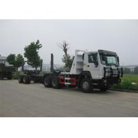 LHD Steering Log Loader Truck , 6x4 336HP Log Carrier Truck 75km/H Max Speed Manufactures