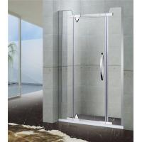 Two Fixed Panel Stainless Steel Shower Screen Pivot Irregular Clear Tempered Glass Manufactures
