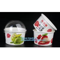 Customized compostable biodegradable 12 oz dessert icecream ice cream cup with lid for ice cream icecream bagease packa Manufactures