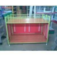 Steel Supermarket Clothes Promotion Cart / Hand Push Exihibition Display Table Manufactures