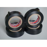 Black PVC Electrical Adhesive Tape , 18mm Width Wiring Loom Tape Manufactures