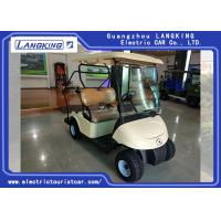 Beige Color Energy Saving 2 Person Golf Cart For Leisure Place / Stadium Manufactures