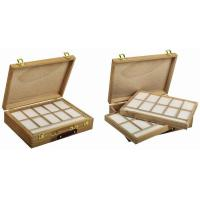 Wooden Art Storage Box With Tray , Rectangular Paint Storage Containers 35.5 X 26.5 X 8.6cm Manufactures