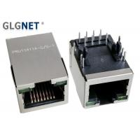 Buy cheap Single Port Magnetic RJ45 Jack 10 / 100 Base - T Integrated With LED NO EMI Tabs from wholesalers