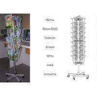 3 Sides Iron Wire Metal Book Display Stand For Magazines And Books Customized Size Manufactures