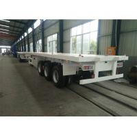 Heavy Flatbed Semi Trailer , 28T Support Legs Cargo Semi Trailer Strong Structure Manufactures