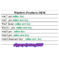 Windows&Office FPP / OEM  Brand New Key ,  100% Online Activation  ,  Lifetime Guarantte  , for All Language Manufactures