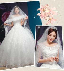 Rhinestone Round Neckline Sweetheart Lace Wedding Dress for Girls , Womens , Ladies Manufactures
