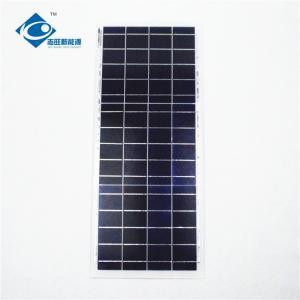 6V Residential Solar Power Panels 15 Watt Peak Power Glass And Plastic Frame Manufactures