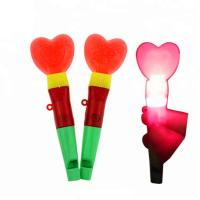 China Hard Heart Pattern Flashing Candy Assorted Fruit Flavor Whistle Stick on sale