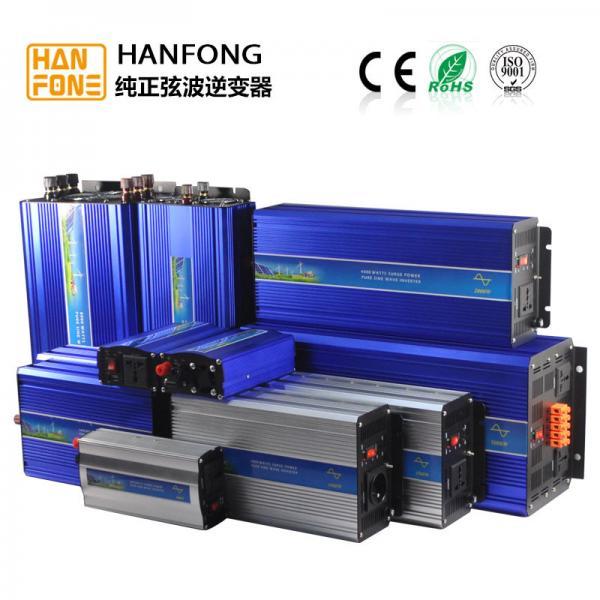 Quality HanFong 1000w off grid solar pure sine wave inverters high frequency with charger battery DC12v24v48V to AC110V120V220V for sale