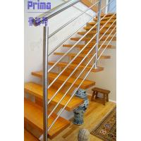 Indoor modern stairs stainless steel railings system Manufactures