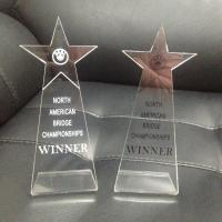 Top Grade Blank Simple Acrylic Trophies And Awards Engraved Logo Award Trophy Manufactures