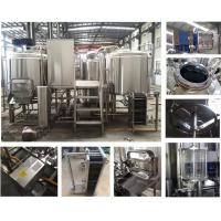 0.15 - 0.3Mpa 800l Micro Beer Brewing Equipment SS304 / 316 / Copper Material Manufactures