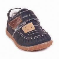 Genuine Leather Shoes, Suitable for Baby Boys, with TPR Outsole Manufactures