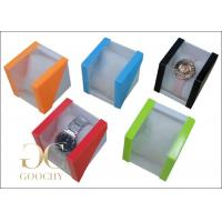 China Bright Light Plastic Watch Box PVC Window for Bangle Watches Women or Men on sale