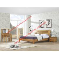 Large-sized apartment Furniture bedroom set by solid wood legs and MDF melamine bed with open mirror dresser Manufactures
