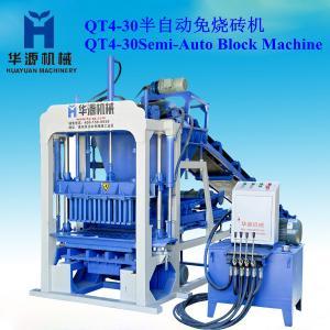 China QT4-30 semi-automatic non-burned small brick making machine on sale