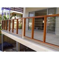 Free sample China wholesales stainless steel rod railing with wood handrail Manufactures