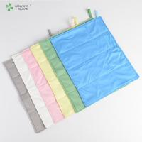Reusable Anti Static Wipes , Clean Room Lint Free Microfiber Cloth Manufactures