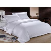 White Dorm Bedding Sets 150 ~ 350GSM 100% Cotton 200TC Customized Size for sale
