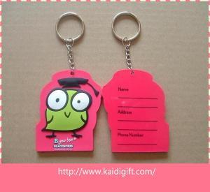China Nice design PVC fitness keychain  key tag on sale
