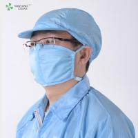 Quality Anti-static ESD Cleanroom 3 PLY Surgical Activated Charcoal Face Mask for sale