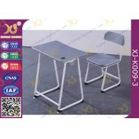 Buy cheap Plastic Seat Study Desk And Chair Set In Grey Color Customized Height from wholesalers