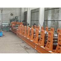 Corrugated Roll Forming Machine , PLC System Silo Making Machine With Anti - Rust Roller