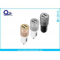 Quality ABS Mini Dual USB Car Charger for iPhone 5 6 6 plus Samsung Galaxy S4 S5 for sale