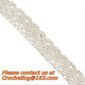 China exquisite elastic stretch Crochet Lace trim handmade 7cm Cotton Lace on sale