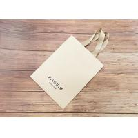 Handmade Luxury Kraft Shopping Bags With Matching Color Strong Silk Fabric Handle Manufactures