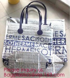 China Aluminum Cooler Bag Thermal Bag,oxford cloth adjustable messenger student insulation lunch cooler bag bagplastics packa on sale