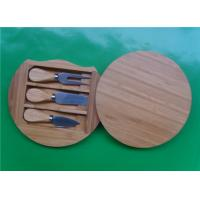 Round Bamboo Knife Cheese Board Manufactures