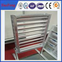 powder coating aluminium slide extruding profiles/ glass louver aluminum alloy frame Manufactures