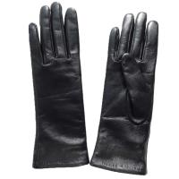 Silk Lined Ladies Leather Shearling Gloves Leather Opera Gloves Custom Designs Manufactures