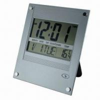 Atomic Digital Wall Clock with Big LCD Screen Display and Indoor Temperature Manufactures