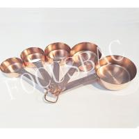 Hot sale Copper Stainless Steel Measuring Cups and Spoons Set wholesale Manufactures