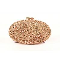 Oval Shape Luxury Stone Clutch Bag  Bridal Wedding With Rose Crystal Manufactures
