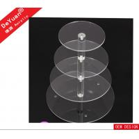 Birthday Party Acrylic Display Stands Transaprent Round In 4 Layers Manufactures