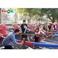 China Custom Durable Inflatable Human Foosball Field Full Set Table For Team Competition on sale