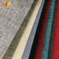 Multicolor Chenille Furniture / Cushion / Sofa Upholstery Fabric With Latex Backing Manufactures