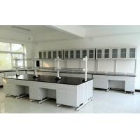 China Corrosion Resistance Medical Lab Bench / Steel - Wood Lab Table With Sinks on sale
