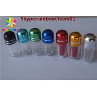 hexagonal shape empty capsule bottle for single pills with metal cap penis enlargement capsules pill capsule container Manufactures