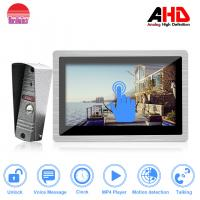 Quality New arrival 10 inch touch screen wired doorbell system video door phone intercom for villa for sale