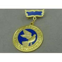 3D Brass Die Stamped Custom Awards Medals Hard Enamel 100mm * 70mm Manufactures