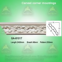 Home decorative material Polyurethane carved panel moulding Manufactures